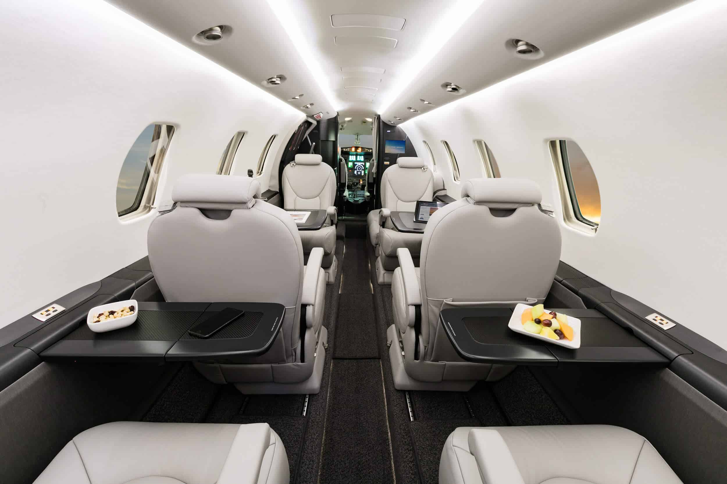 Brightly lit Interior of a Citation Excel