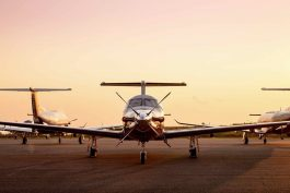 Pilatus PC-12's at Sunrise ready to go Flying Private